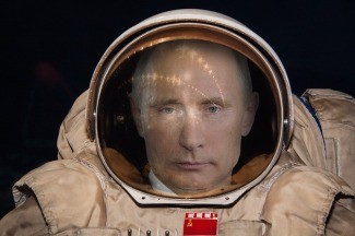 to go where no man has gone before Putin plays Gagarin